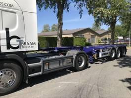 container chassis oplegger Pacton T3-010 20/30/40 en 45 voet Uitschuif . ALS NIEUW 2007