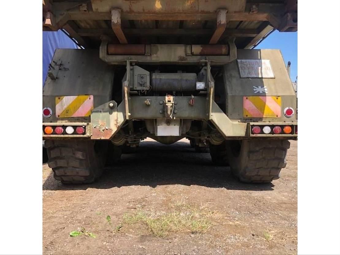 leger vrachtwagen Foden Foden 8x6 Hook Loader Truck container carrier Ex Military 1996