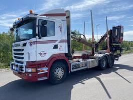 houttransporter vrachtwagen Scania R560, 6X4, Euro 5, Timber-truck, + Loglift 96S, 2011 2011
