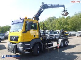 containersysteem vrachtwagen MAN TGS 26.320 6x4 container hook + Hiab XS166 E-2 HiPro + rotator/grapple 2009