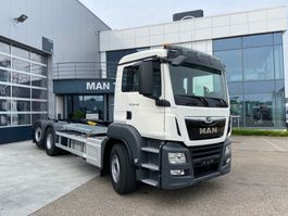 containersysteem vrachtwagen MAN TGS 26.430 6x2-4 BL-M Palfinger containerhaak 2020