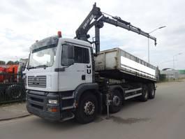 kipper vrachtwagen > 7.5 t MAN TGA 35.410 8X4 KIPPER + HIAB 220 C-4 / TUV 2021 !! 2004