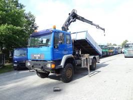 kipper vrachtwagen > 7.5 t MAN LE 14.220 4X4 Kipper mit Kran HIAB 088 2006