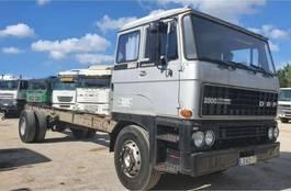chassis cabine vrachtwagen DAF 2800 Turbo Intercooling - Big Axles - 78000km 1983