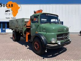 kipper vrachtwagen > 7.5 t Mercedes-Benz 1513 (10 bold) 4x2 Tipper with Hiab 55 crane 1970