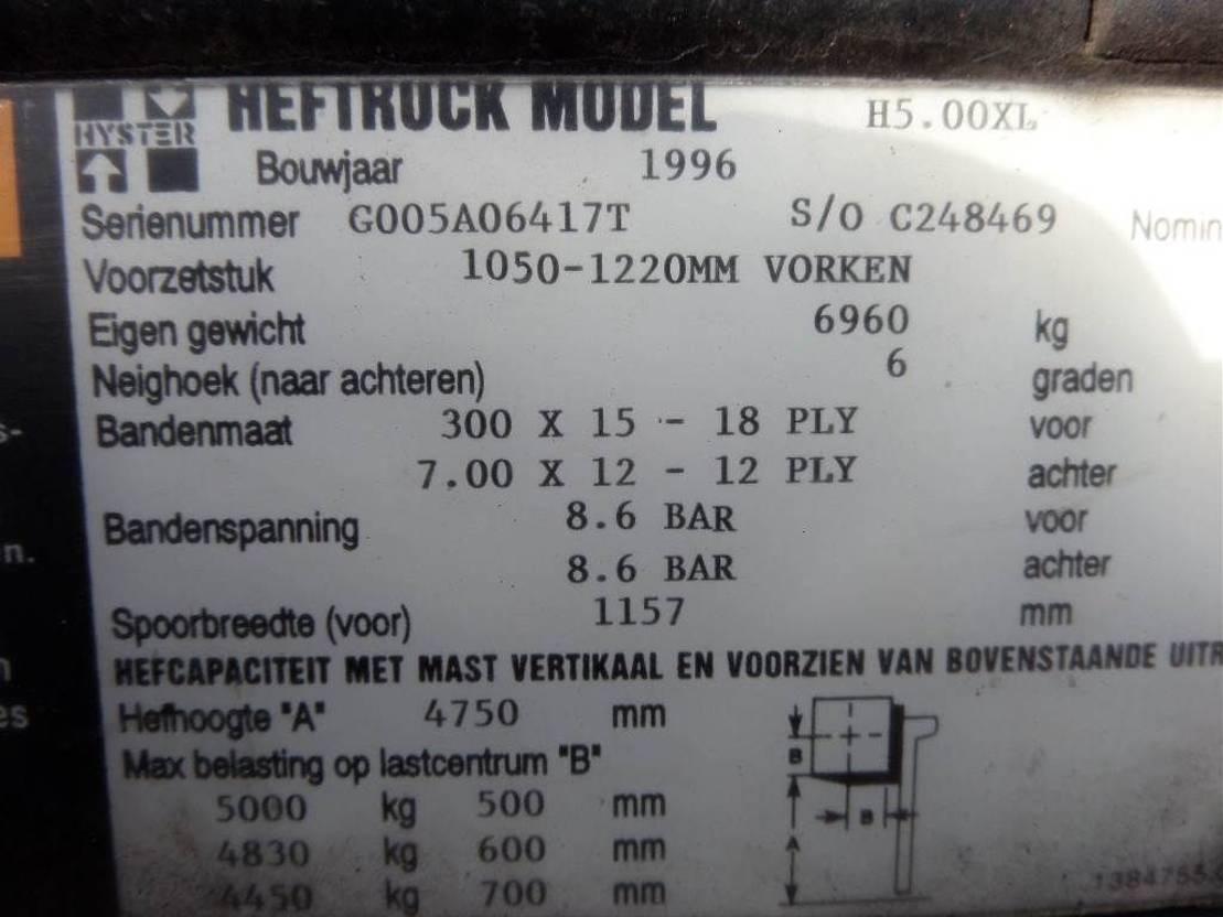 vorkheftruck Hyster H5.00xl 1996