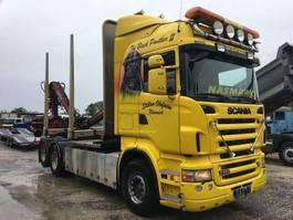 houttransporter vrachtwagen Scania R500 whith Crane Loglift 95 - 6X2 - EURO 4 1997