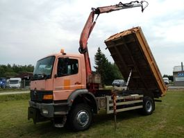 kipper vrachtwagen > 7.5 t Mercedes Benz ATEGO 1928 4x4 3way tipper+ crane 1999
