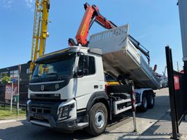 kipper vrachtwagen > 7.5 t Volvo FMX 410 6X4 EURO 6 + PALFINGER PK22002 MET REMOTE 2015
