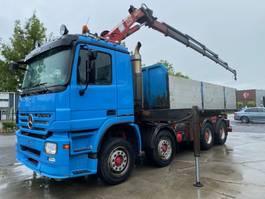 kipper vrachtwagen > 7.5 t Mercedes Benz ACTROS 3244 8X4 EURO 5 + HMF 2220 K5  MET REMOTE 2007