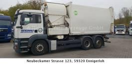 vuilniswagen vrachtwagen MAN 26.320 Hüffermann Seitenlader