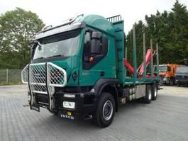 houttransporter vrachtwagen Iveco AT260T50 Holztransporter+Palfinger120Z79+Greifer 2013