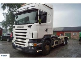 containersysteem vrachtwagen Scania R470 6x2 hook lift 2006