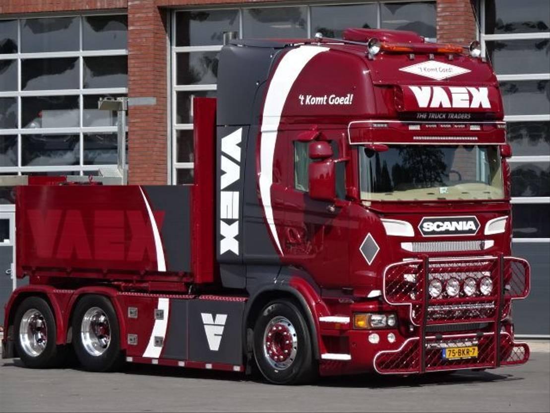 """takelwagen-bergingswagen-vrachtwagen Scania R560 LA6x2HNA """"Rescue Truck, Triple K True Tilt"""" 2011"""