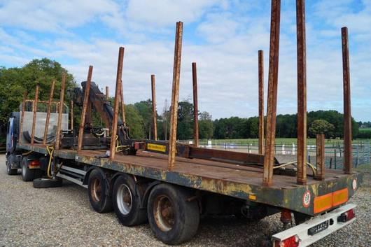 houtoplegger 3-assige oplegger