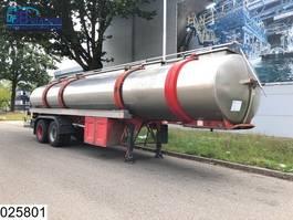 tankoplegger Magyar Food RVS tank, 28000 Liter, 7 Compartments, Steel suspension 1977
