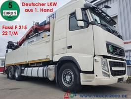 kraanwagen Volvo FH 12-430 Fassi F215 22T/M 1.Hand Deutscher LKW 2012