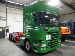 containersysteem vrachtwagen Scania R580 Abrollkipper MEILLER 6x2 lenk-Lift 2016