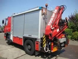 brandweerwagen vrachtwagen DAF DAF75 4X4 MET 10 TON HIABKRAAN EN LIER GENERATOR 1997