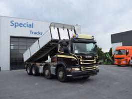 kipper vrachtwagen > 7.5 t Scania P420 8x4 3-Way HMF kipper with bordmatic 2006