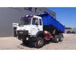kipper vrachtwagen > 7.5 t Iveco Magirus 340 (6X6 / BIG AXLE / STEEL SUSPENSION / GRAND PONT / LAMES) 1993
