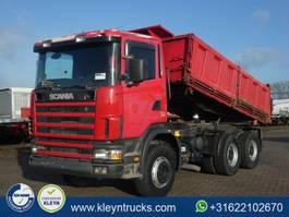 kipper vrachtwagen > 7.5 t Scania R124.400 6x4 manual steel 1998