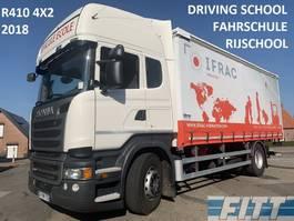 schuifzeil vrachtwagen Scania R410 2018 LESAUTO, dubb bediening, 6 zitplaatsen, schuifzeilen/dak, ov klep 2018