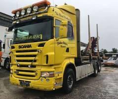 houttransporter vrachtwagen Scania R500 With Crane Loglift 95 - 6x2 - Euro 4 2007