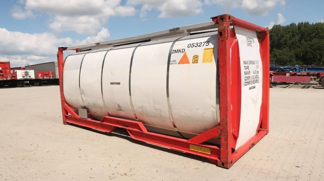 tankcontainer Van Hool 24.900L TC, 2 comp.(12.450L/12.450L), UN PORT., T11, L4BN, valid 5y insp. 06/2022 2005