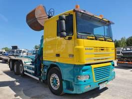 containersysteem vrachtwagen DAF XF430 - 8x2 - With EPSILON Crane - 2 Directional Axles 2003