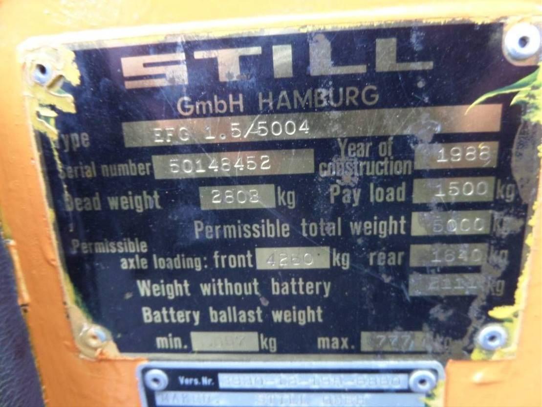 vorkheftruck Still EFG1,5 5004 1988