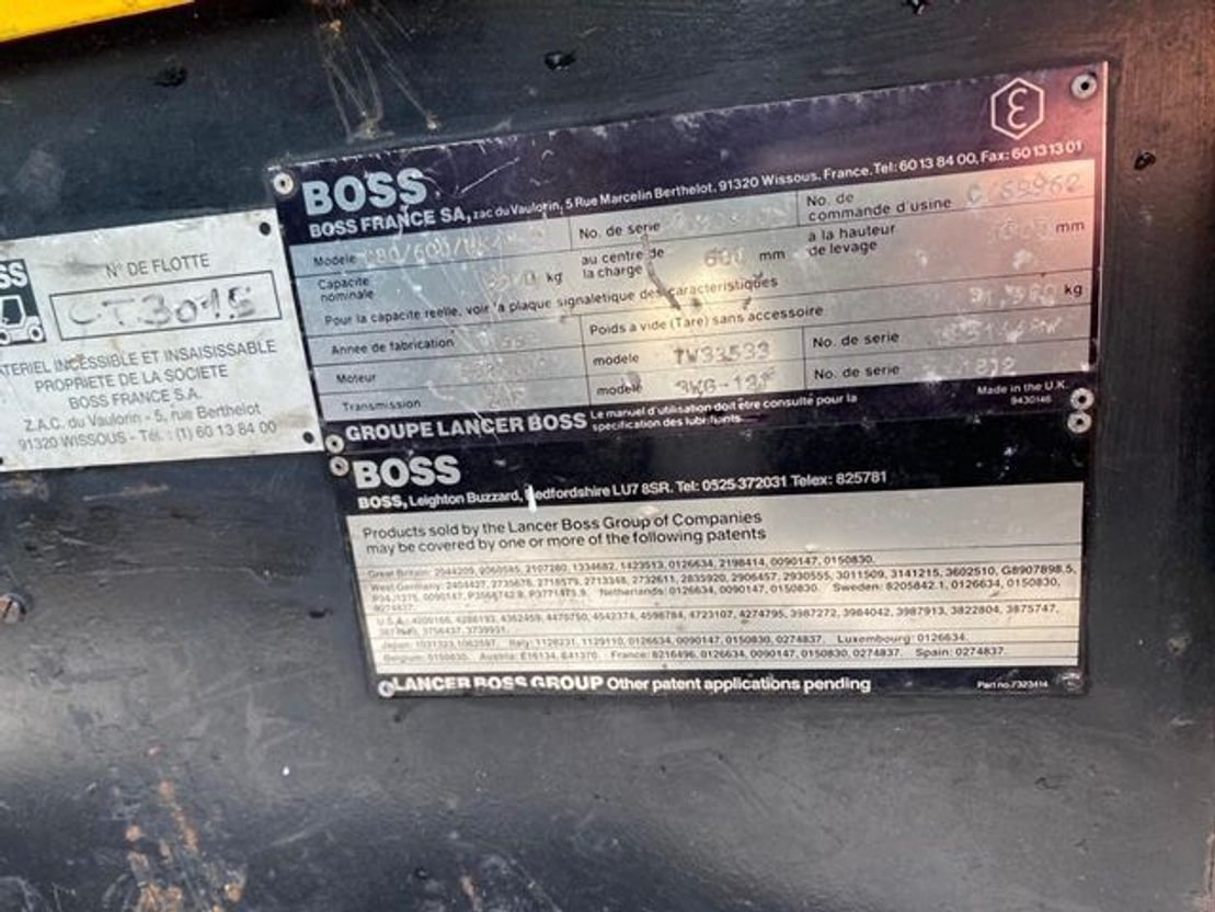 vorkheftruck Steinbock Boss 080/60DM 1993