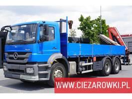 platform vrachtwagen Mercedes Benz Axor 2633 , E5 , 6x4 , box 6,5m , Fassi 175A + rotator 2014