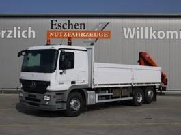 open laadbak vrachtwagen Mercedes-Benz 2532 L, Palfinger PK 12502 Kran, Klima, Blatt / Luft 2008