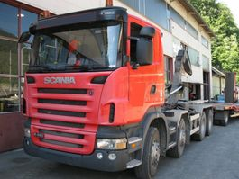 wissellaadbaksysteem vrachtwagen Scania R480 8x4 Manuell Retarder AHK E5 Leasing 2009