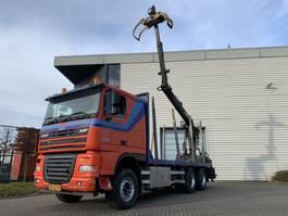 houttransporter vrachtwagen DAF XF 105 FAT 2008