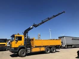 kipper vrachtwagen > 7.5 t MAN F 2000  33.414 6X6 BB Kipper-Kran-Manueel-Steel-Euro 2 2001
