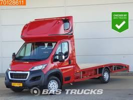 oprijwagen bedrijfswagen Peugeot Boxer 2.0 163PK Oprijwagen Autotransporter Nieuwstaat A/C Towbar 2018