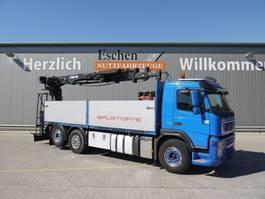 open laadbak vrachtwagen Volvo FM 400, 6x2, Hiab 185 K Kran, Euro 5, Automatik, Luft 2009