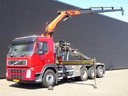 containersysteem vrachtwagen Volvo FM 380 8x4 EURO 5 / PALFINGER KRAAN + CONTAINERSYSTEEM 2010