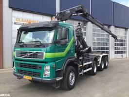 containersysteem vrachtwagen Volvo FM 440 8x6 Hiab 16 ton/meter laadkraan 2008