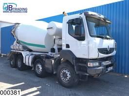 betonmixer vrachtwagen Renault Kerax 520 8x4, EURO 5, Liebherr, 9 M3, Steel suspension, Airco, Hub redu... 2011