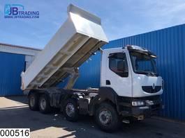 kipper vrachtwagen > 7.5 t Renault Kerax 520 8x4, EURO 5, Steel suspension, Airco, Hub reduction 2012