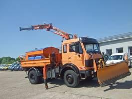 kipper vrachtwagen > 7.5 t Mercedes Benz 1617 CAK 4x4 KIPPER ATLAS KRAN 75.2 A2 5,5m AHK 1990