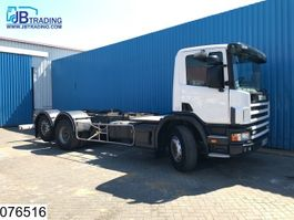 chassis cabine vrachtwagen Scania 124 420 3 pendals, Retarder, Airco, PTO, Annaloge tacho 2003
