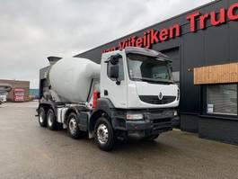 betonmixer vrachtwagen Renault KERAX 430 EEV - 8X4 BARYVAL CONCRETE MIXER 2013