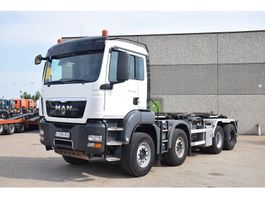 containersysteem vrachtwagen MAN TGS 41.480 8X4  9 TON FRONT AXELS 2013