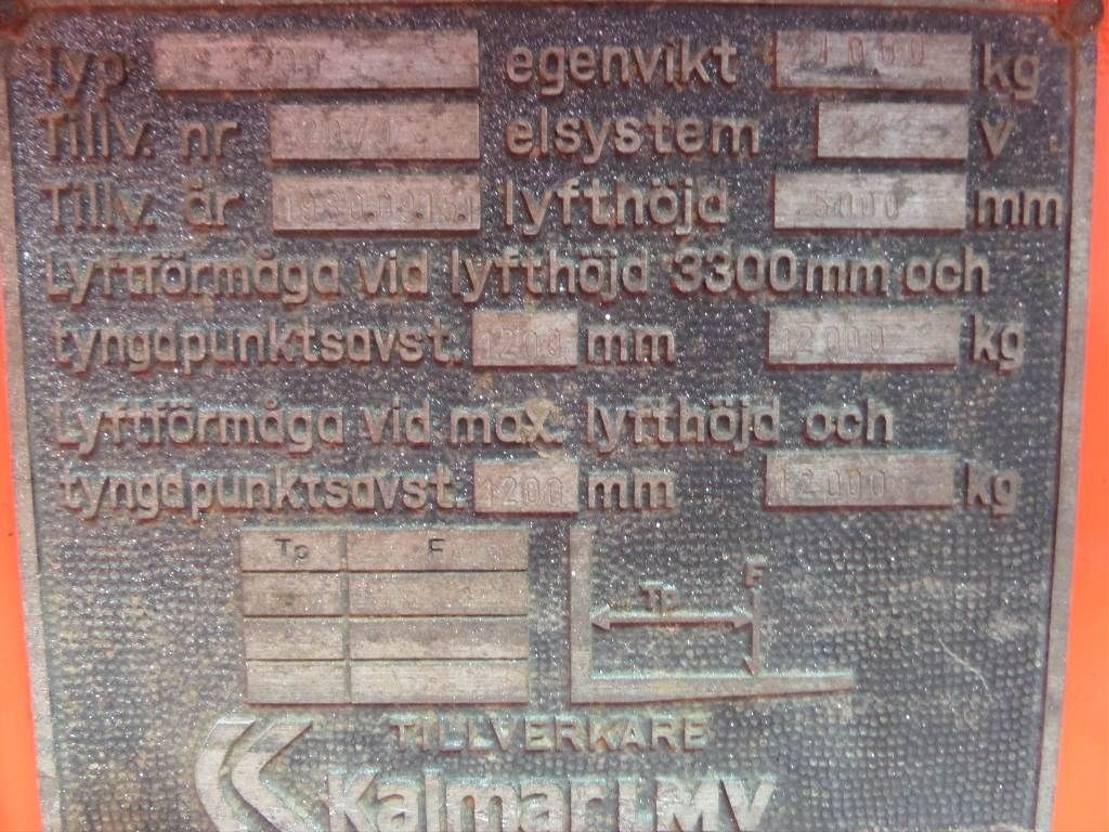 vorkheftruck Kalmar 12-1200 1984