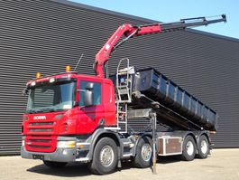 containersysteem vrachtwagen Scania P400 / EURO5 / 8x2 / CRANE + CONTAINERSYSTEM / KRAN 2011