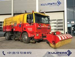Veegmachine vrachtwagen DAF 65.180 Euro 2 // Manual // Kehrmaschine // 3 piece Sweeper // High press... 1995